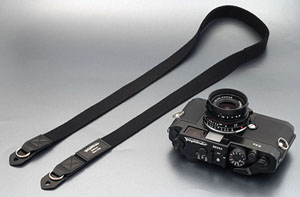Voigtlander Deluxe Cloth Camera Strap -- Black