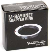 Voigtlander LTM to M Adapter for 50/75mm Lenses