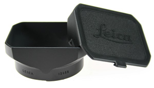 Leica Rectangular Metal Lens Hood with Cap for 35mm and 50mm f/2.5 Summarit Lenses